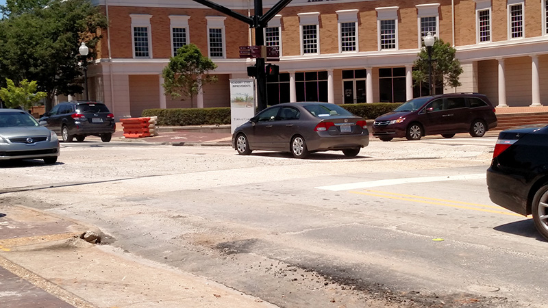 The Academy/Chatham intersection, during the day.