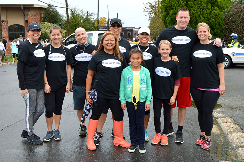 Runners from the first Miles for Medicine event.