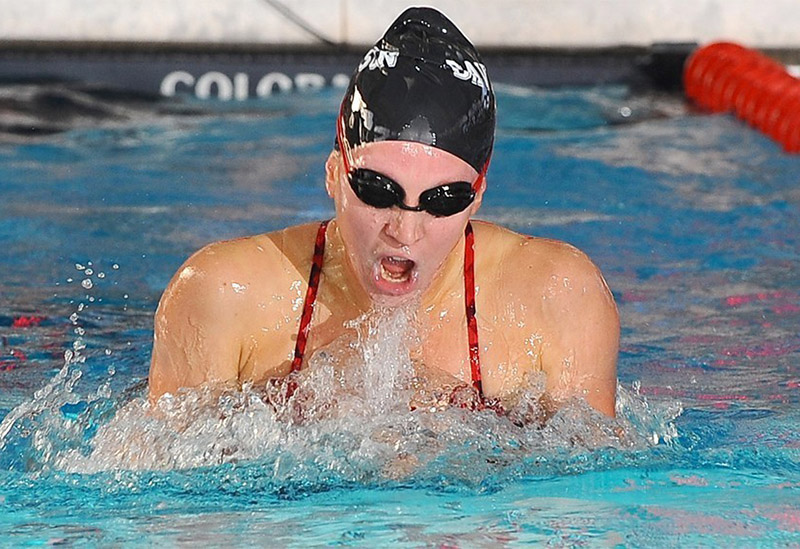 Williams swimming for Davidson