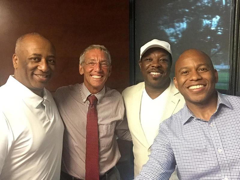 Cary Mayor Harold Weinbrecht with Dreamfest organizers Lafayette Trawick, Al Cohen and Tru Pettigrew