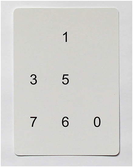 An example of a memory training device, where students would have three seconds to memorize the order and position of the numbers. Courtesy of LearningRx.