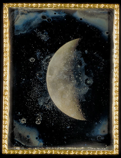 """""""View of the Moon"""" by John Adams Whipple, 1852."""