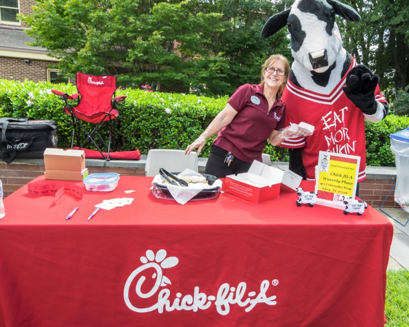 Chick-Fil-A of Waverly brought along their cow for some fun in the afternoon.