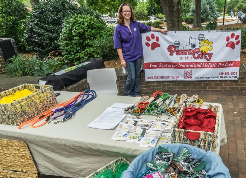 Paws In the City was an afternoon booth at the finish