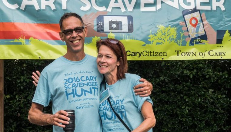 Hal Goodtree and Lindsey Chester of CaryCitizen, the event creators