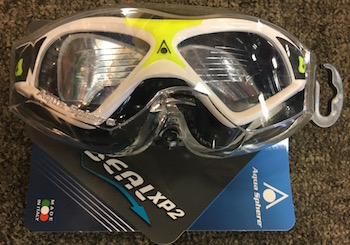These goggles are more like a snorkle mask with a nice secure leak-proff fit for the swimmer you know. By Aqua Sphere at Inside Out Sports,$27.99