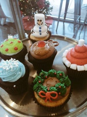 Cupcakes with holiday themes can be special ordered or catered from Smallcakes in Parkside Town Commons