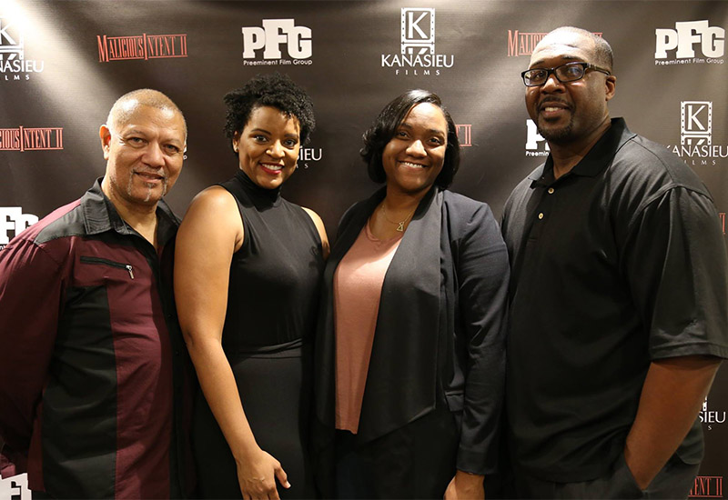 From Left to Right: Michael L. Buie - Executive Producer ; Schelle Purcell - Executive Producer ; Chanel Ware - Executive Producer ; Karim Shyllon - Writer, Director & Executive Producer