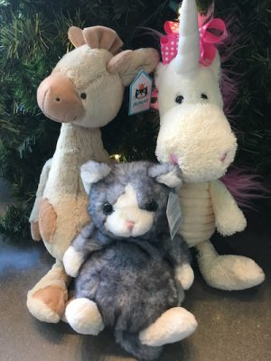 Jellycats plush toys From Halie's Boutique in Parkside Town Commons $15-$35