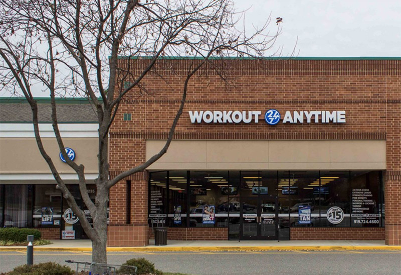 Cary's Workout Anytime in Maynard Crossing.