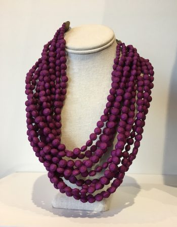 Zenzie beaded necklaces are made in Africa by women paid a living wage. Available at Pink Magnolia in Parkside Town Commons and now Park West Village. $70