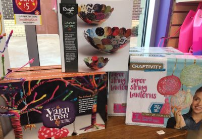 An assortment of craft kits at Learning Express in Parkside Town Commons, from $17.99-$24.99